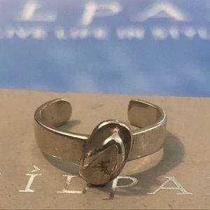 Silpada Sterling Silver Flip Flop Toe Ring O1730
